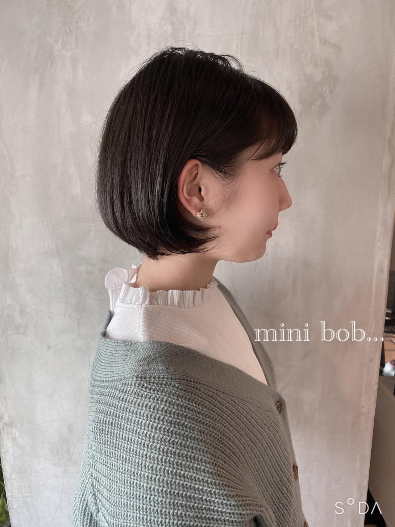 ショートボブ 大人可愛い ナチュラル おしゃれさんと繋がりたいヘアスタイルや髪型の写真・画像