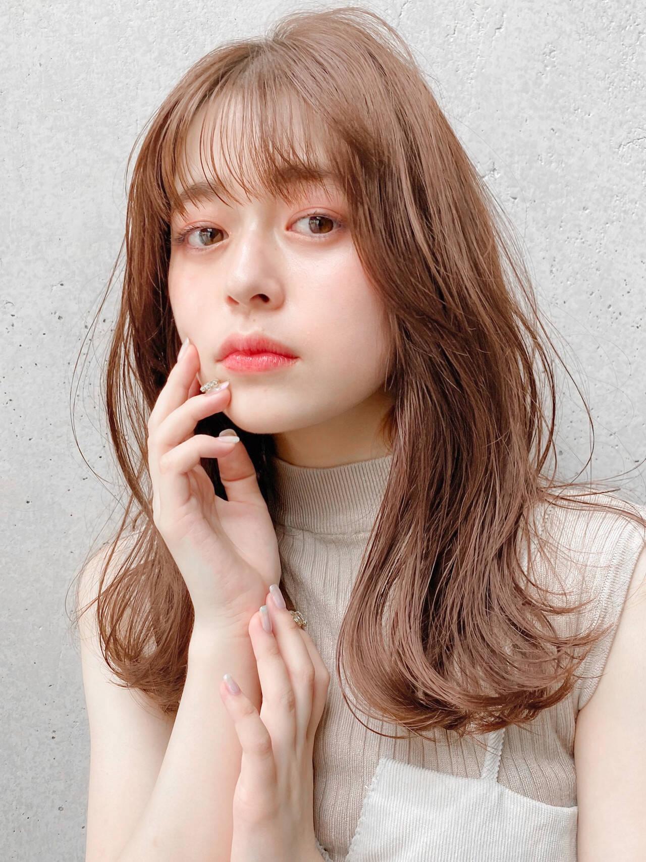 アンニュイほつれヘア ミディアム くびれボブ ミディアムレイヤーヘアスタイルや髪型の写真・画像