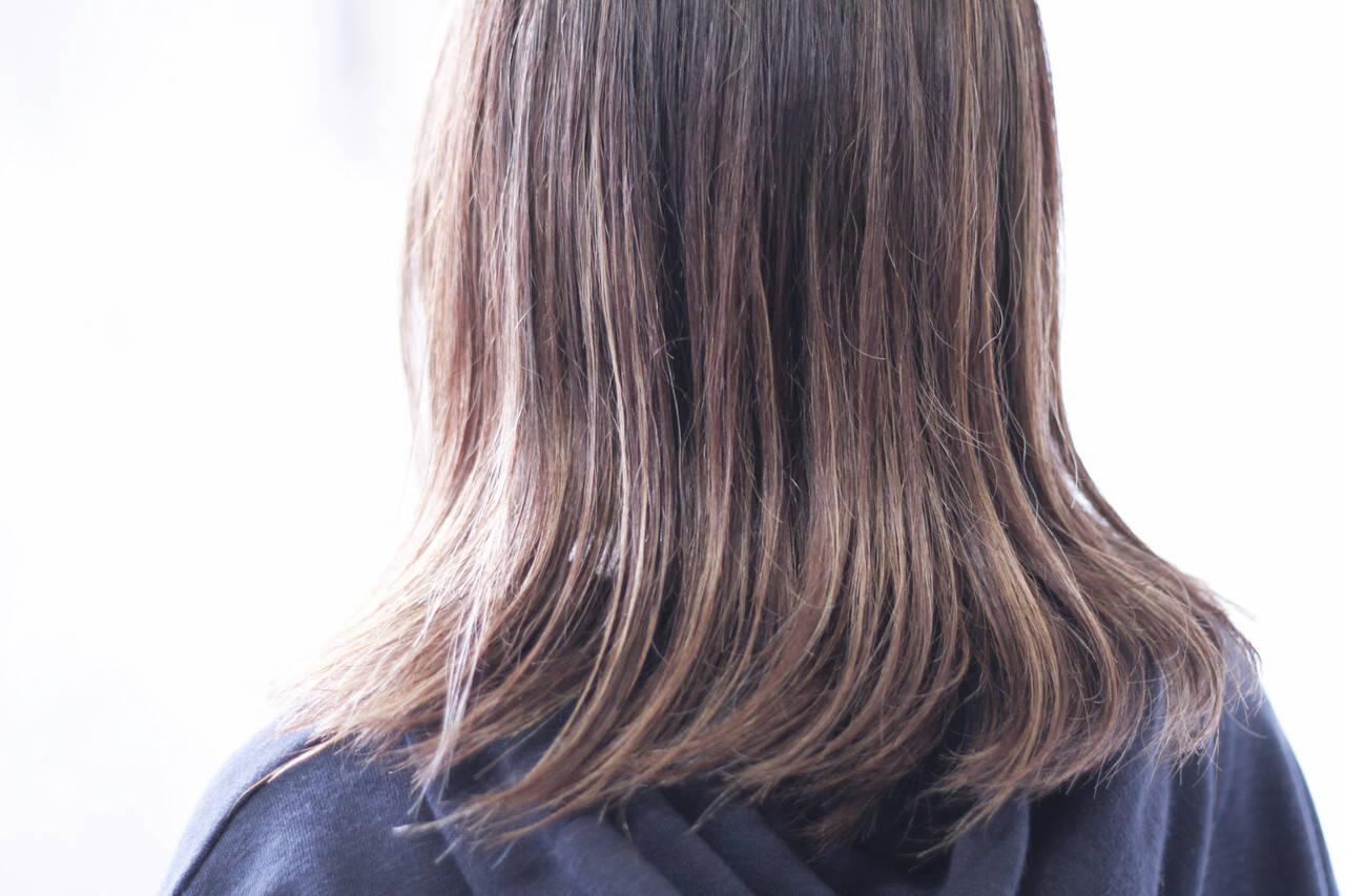 ハイライト 極細ハイライト コントラストハイライト 3Dハイライトヘアスタイルや髪型の写真・画像