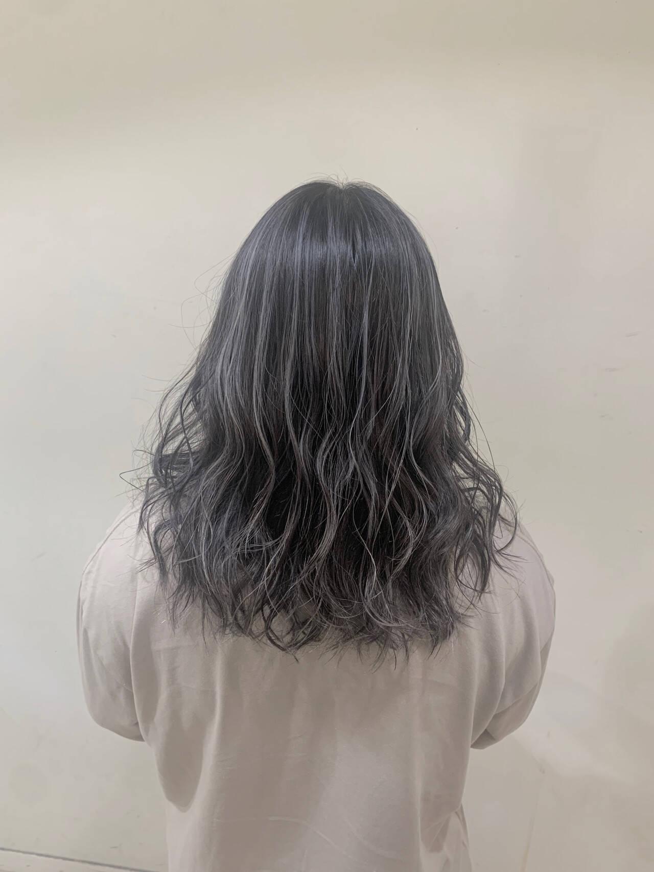 ホワイトブリーチ コントラストハイライト ハイライト 透け感ヘアヘアスタイルや髪型の写真・画像