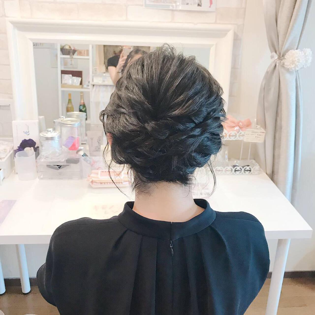 上品 エレガント 結婚式 ショートボブヘアスタイルや髪型の写真・画像