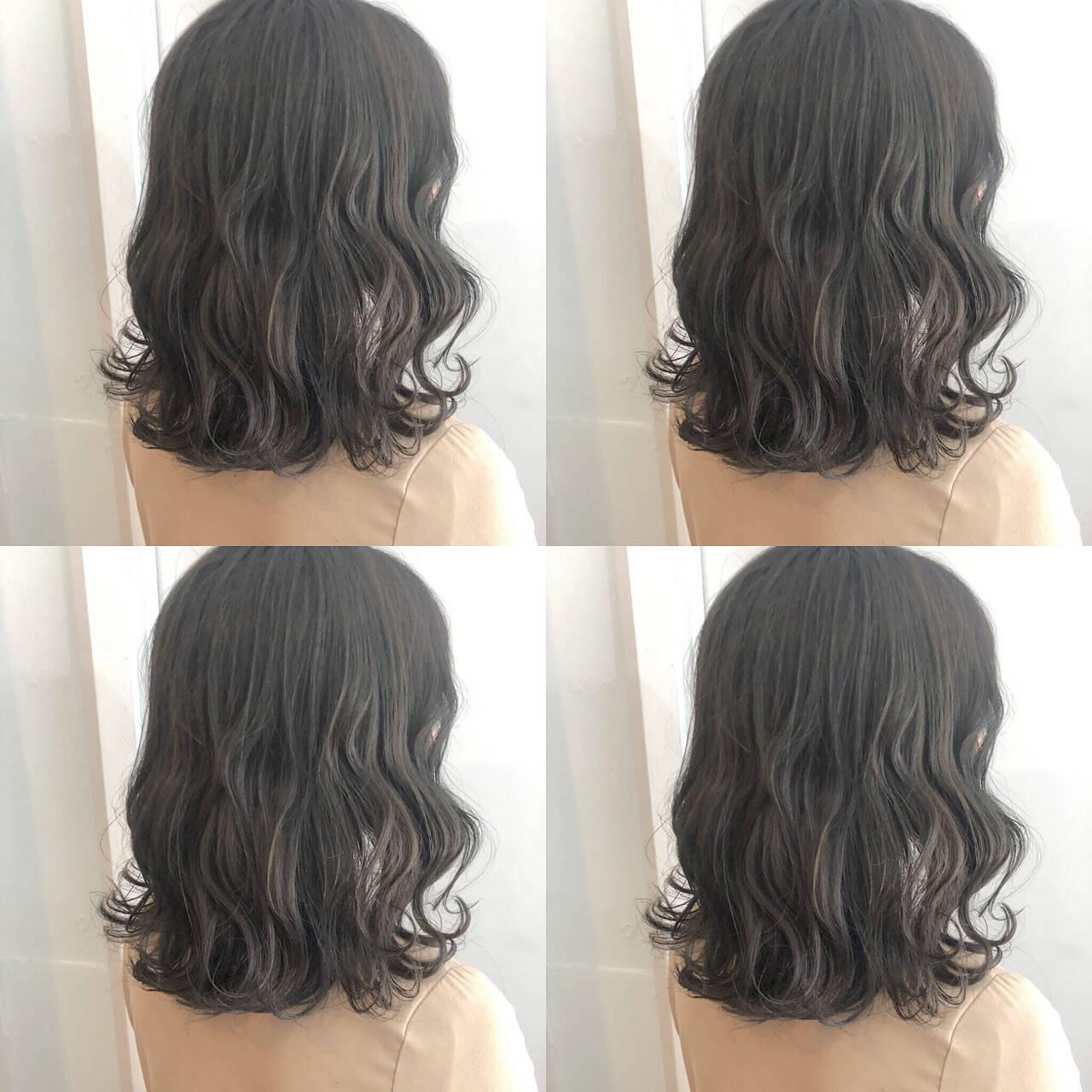 韓国 ナチュラル ヘアアレンジ ミディアムヘアスタイルや髪型の写真・画像