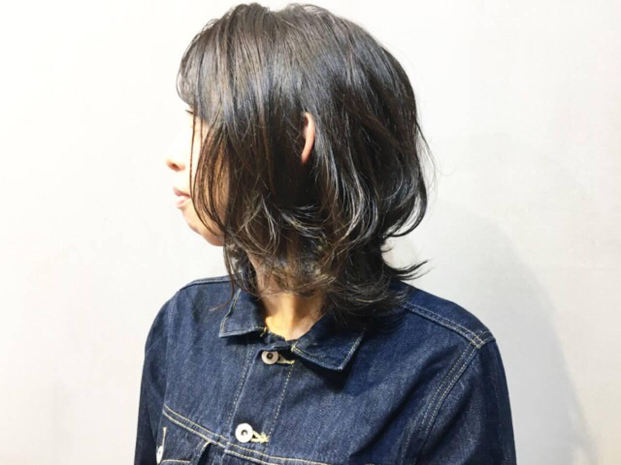 ウルフ ニュアンスウルフ ナチュラルウルフ ウルフカットヘアスタイルや髪型の写真・画像
