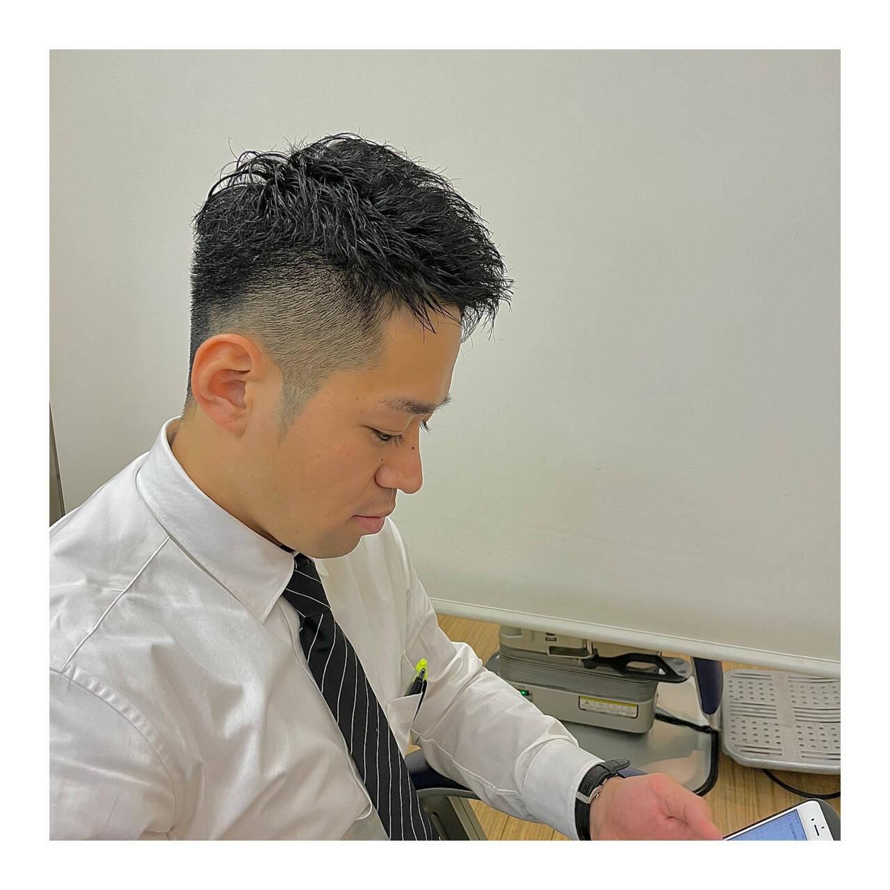 メンズスタイル フェードカット ショート ベリーショートヘアスタイルや髪型の写真・画像