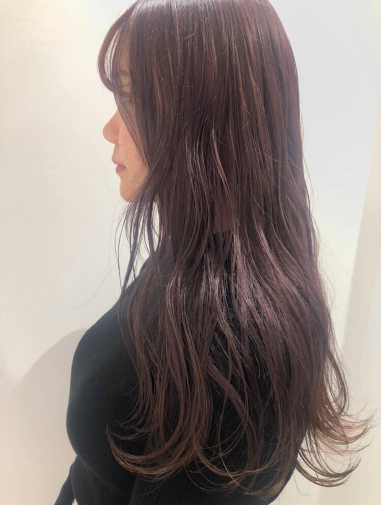 ラベンダー グレーアッシュ ラベンダーアッシュ ガーリーヘアスタイルや髪型の写真・画像