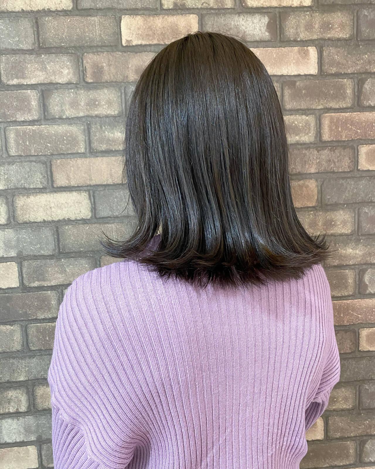 艶髪 N.オイル イルミナカラー 外ハネヘアスタイルや髪型の写真・画像