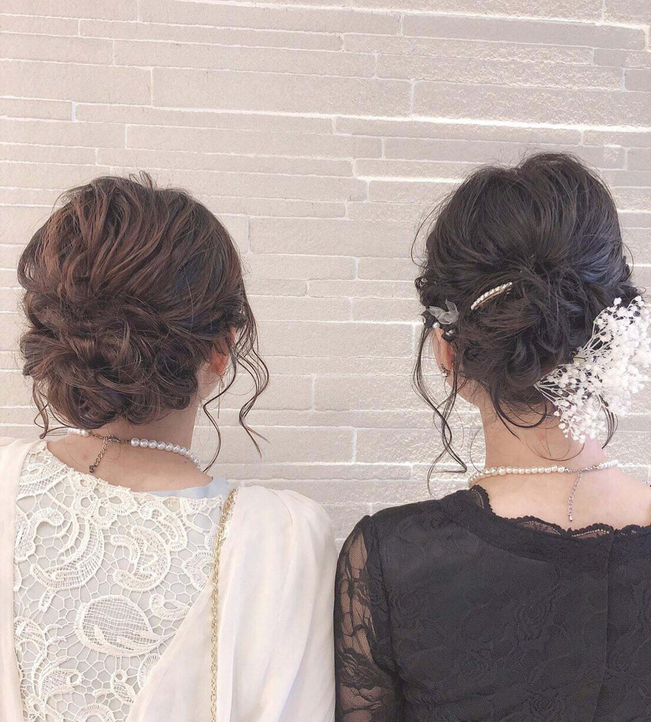 結婚式 簡単ヘアアレンジ ヘアアレンジ デートヘアスタイルや髪型の写真・画像