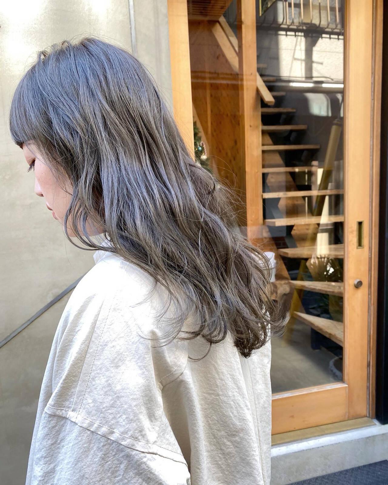 透明感 ナチュラル お洒落 くすみベージュヘアスタイルや髪型の写真・画像