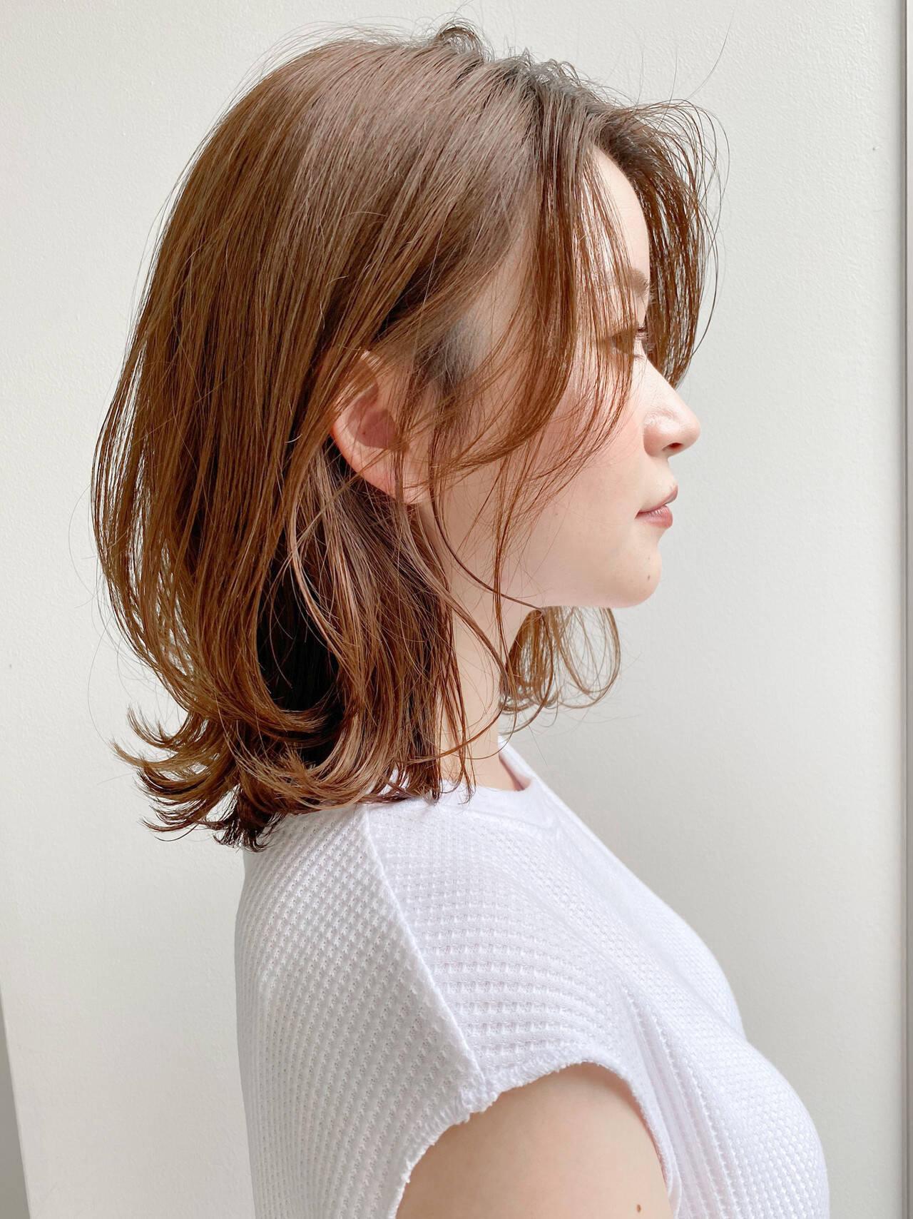 くびれボブ ボブ デート ナチュラルヘアスタイルや髪型の写真・画像