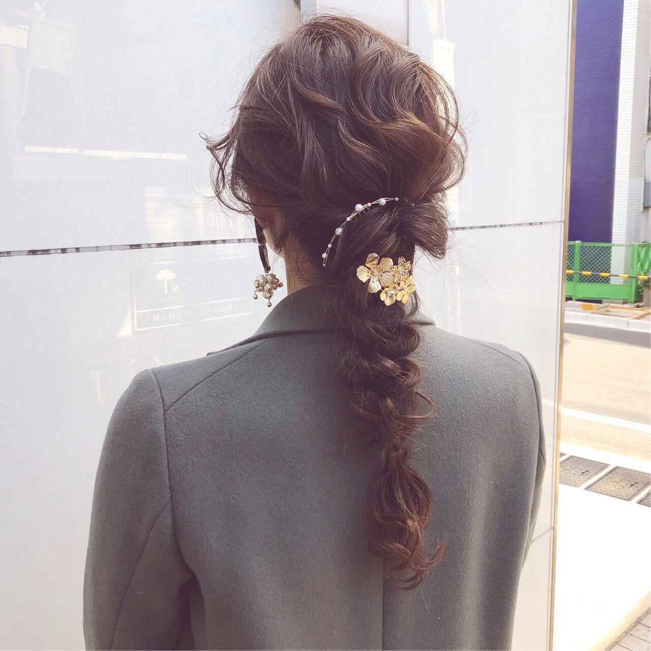 ロング アンニュイほつれヘア デート ヘアアレンジヘアスタイルや髪型の写真・画像