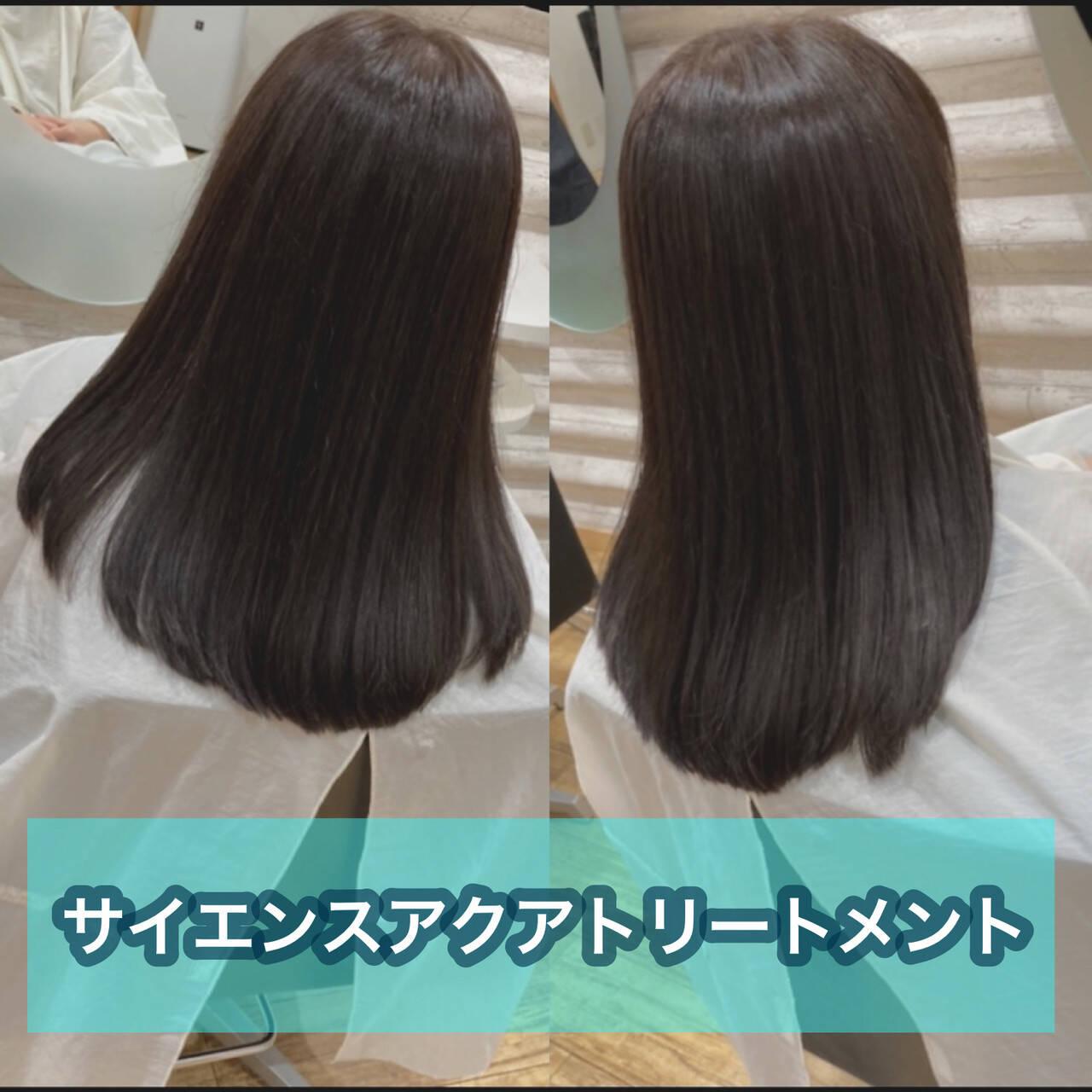 ナチュラル 髪質改善 大人ロング 髪質改善トリートメントヘアスタイルや髪型の写真・画像