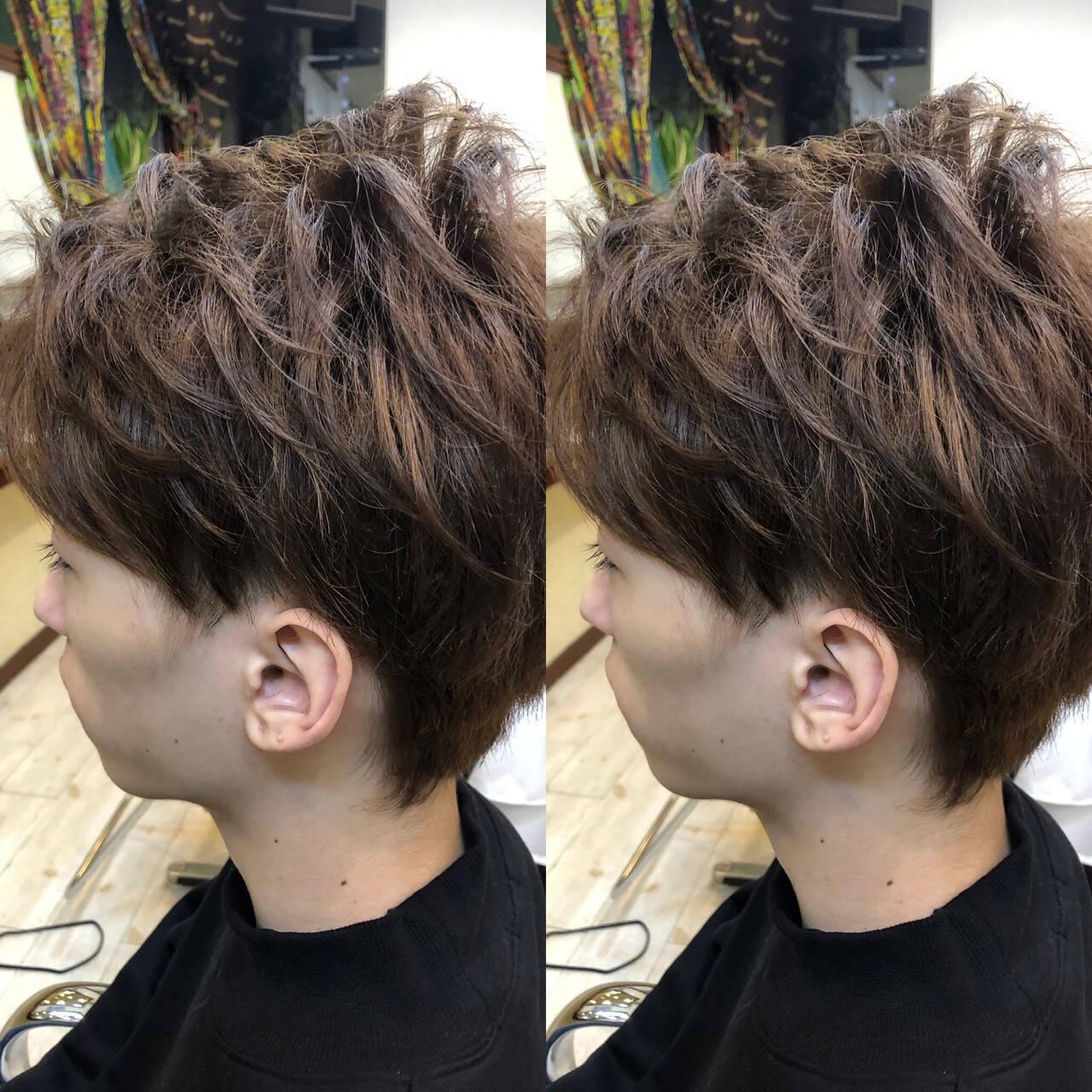 ストリート デート ショート メンズカジュアルヘアスタイルや髪型の写真・画像