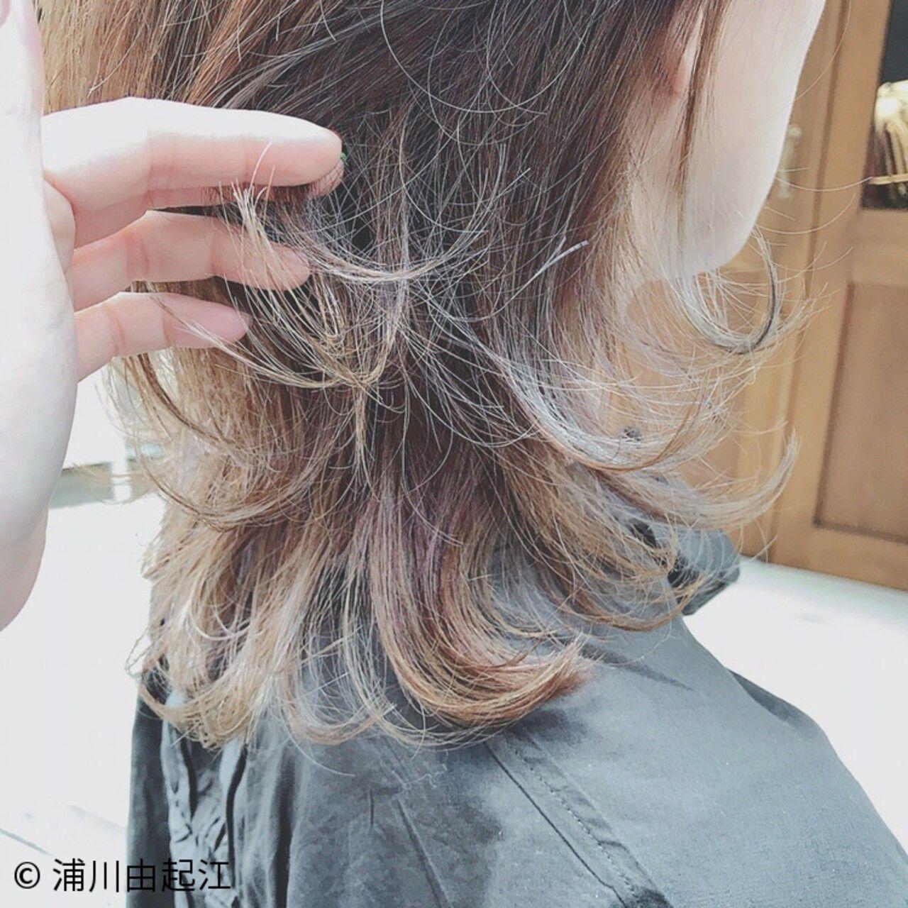 大人かわいい ハイライト ナチュラル ロングヘアスタイルや髪型の写真・画像