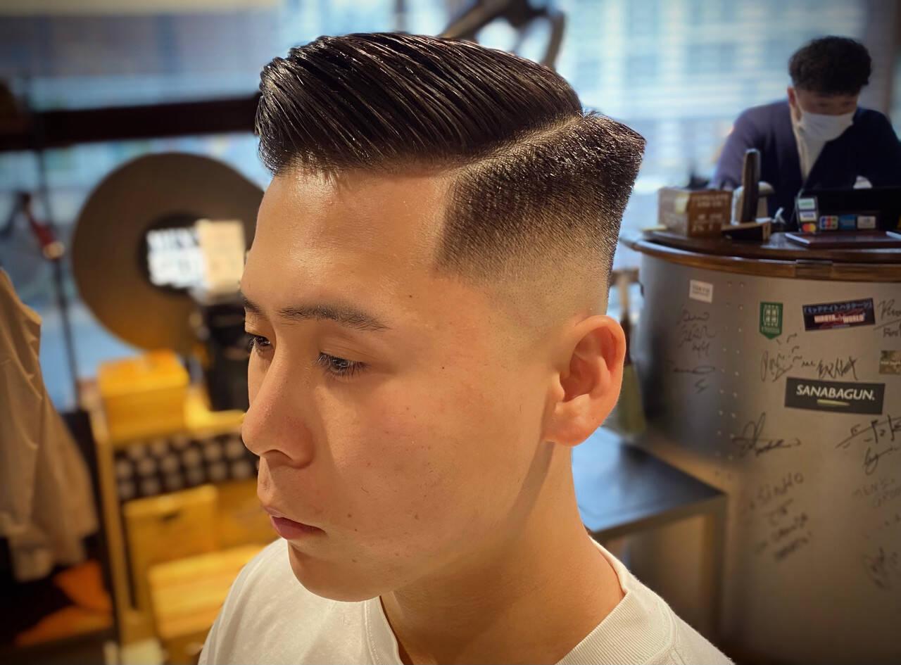 刈り上げ スキンフェード メンズヘア 刈り上げショートヘアスタイルや髪型の写真・画像