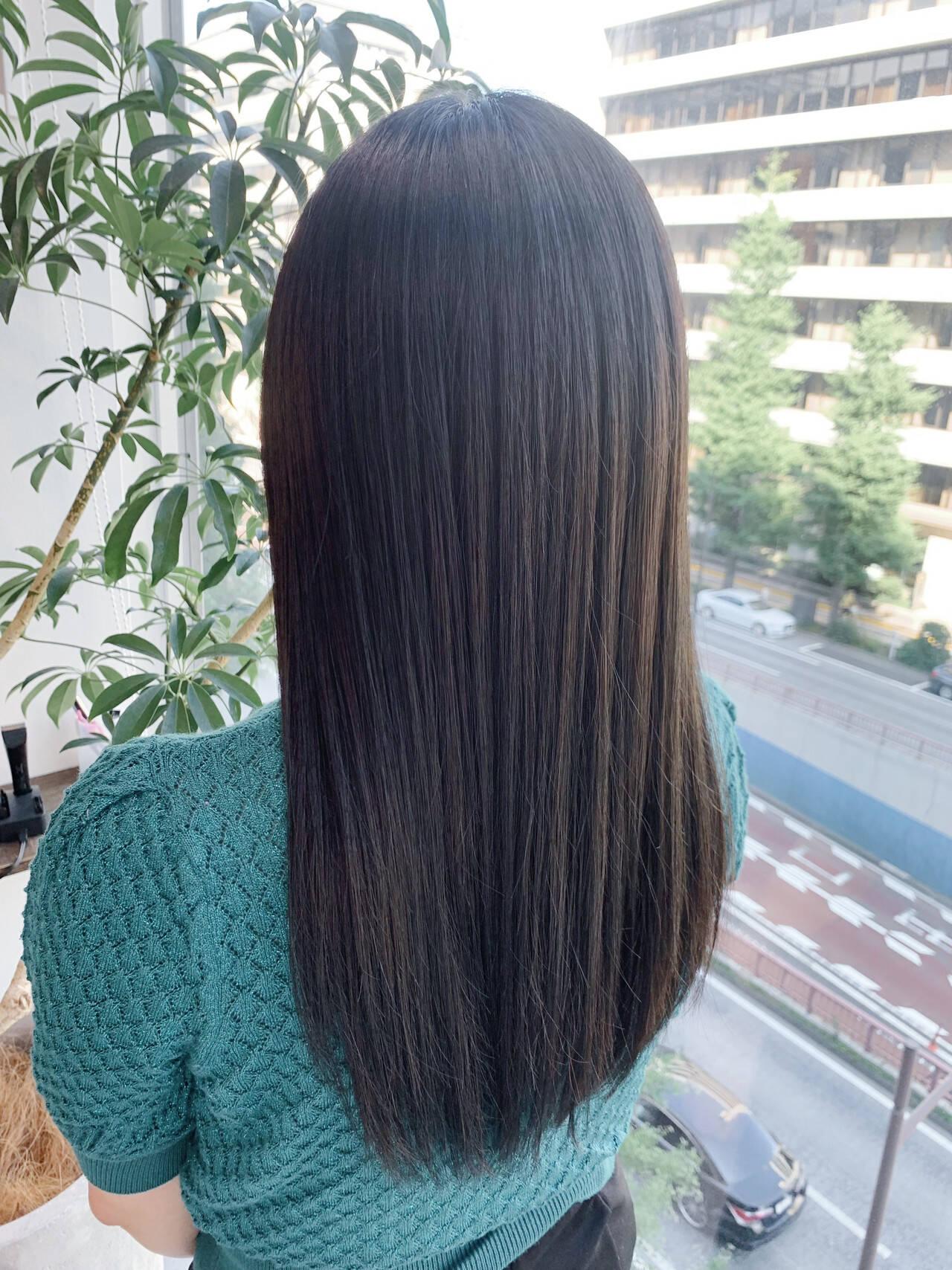 髪質改善 ロングヘア 大人かわいい 髪質改善トリートメントヘアスタイルや髪型の写真・画像