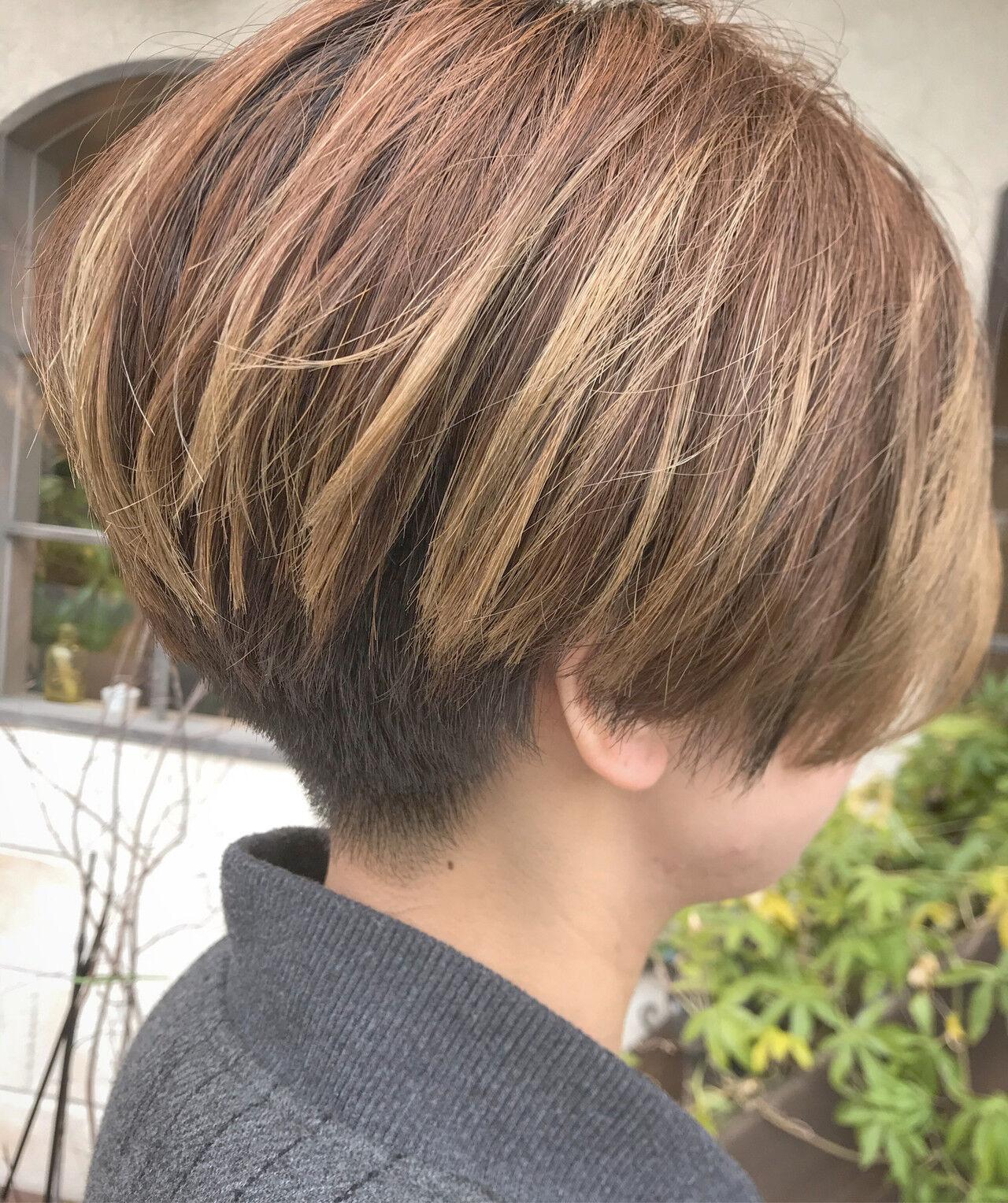モード ショートマッシュ 刈り上げ女子 ショートヘアスタイルや髪型の写真・画像