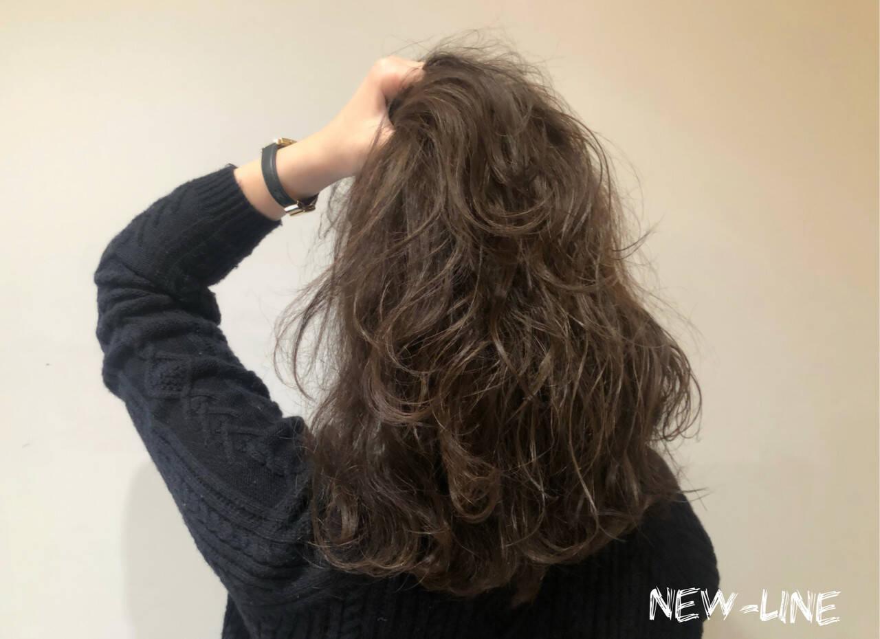 ベージュ 髪質改善トリートメント ミディアム ナチュラルヘアスタイルや髪型の写真・画像