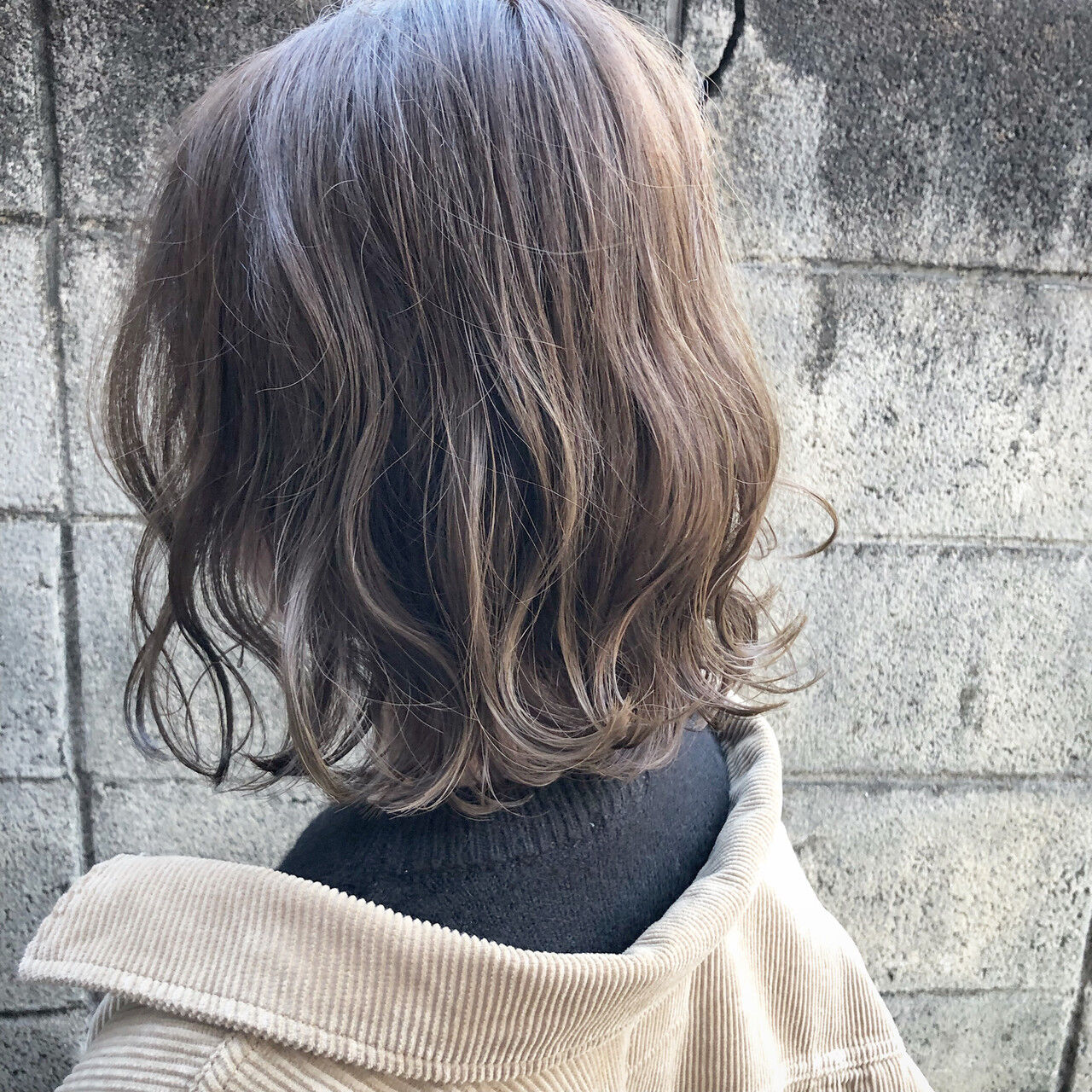 外国人風 ボブ アンニュイほつれヘア 切りっぱなしヘアスタイルや髪型の写真・画像