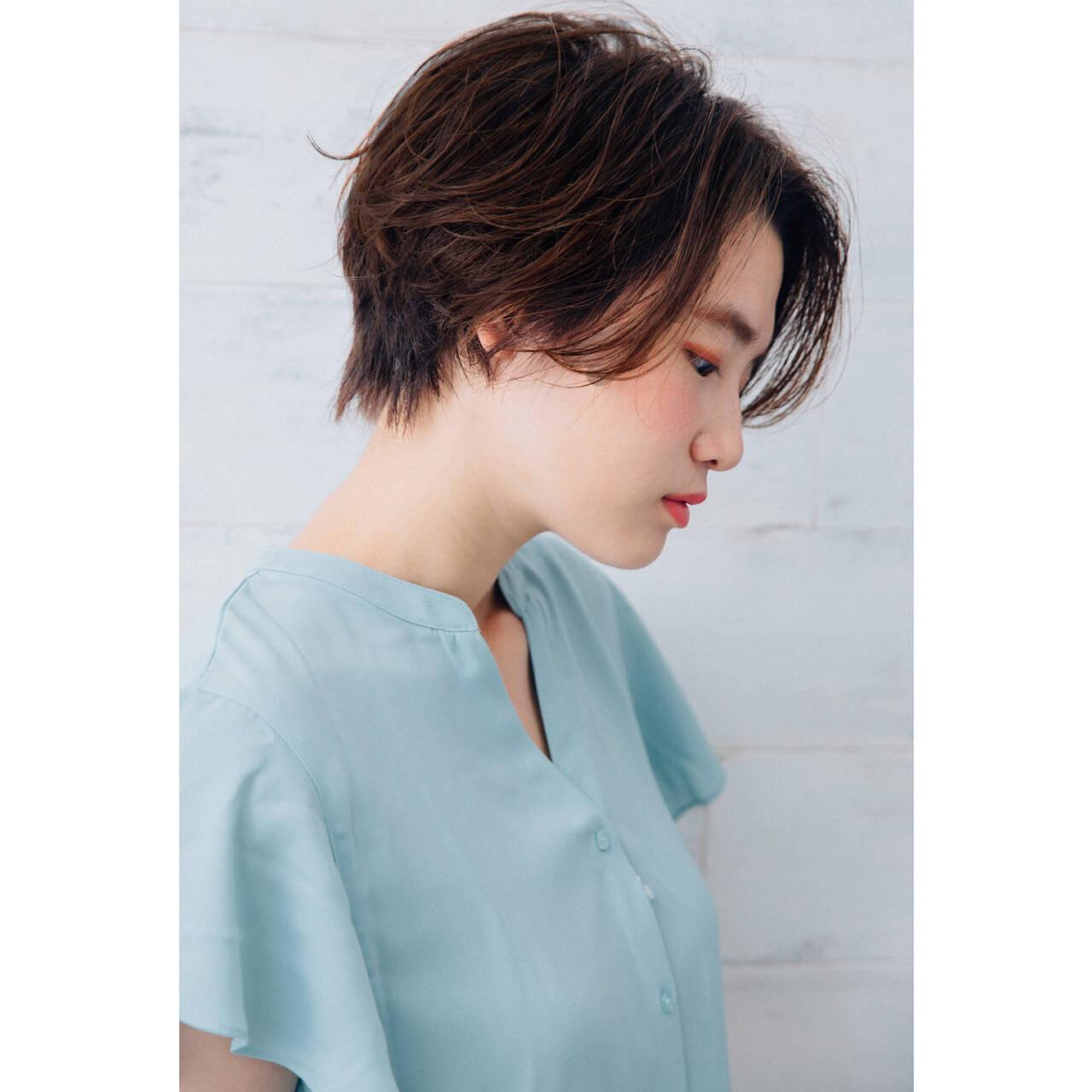 ショートボブ 透明感 ナチュラル ショートヘアスタイルや髪型の写真・画像