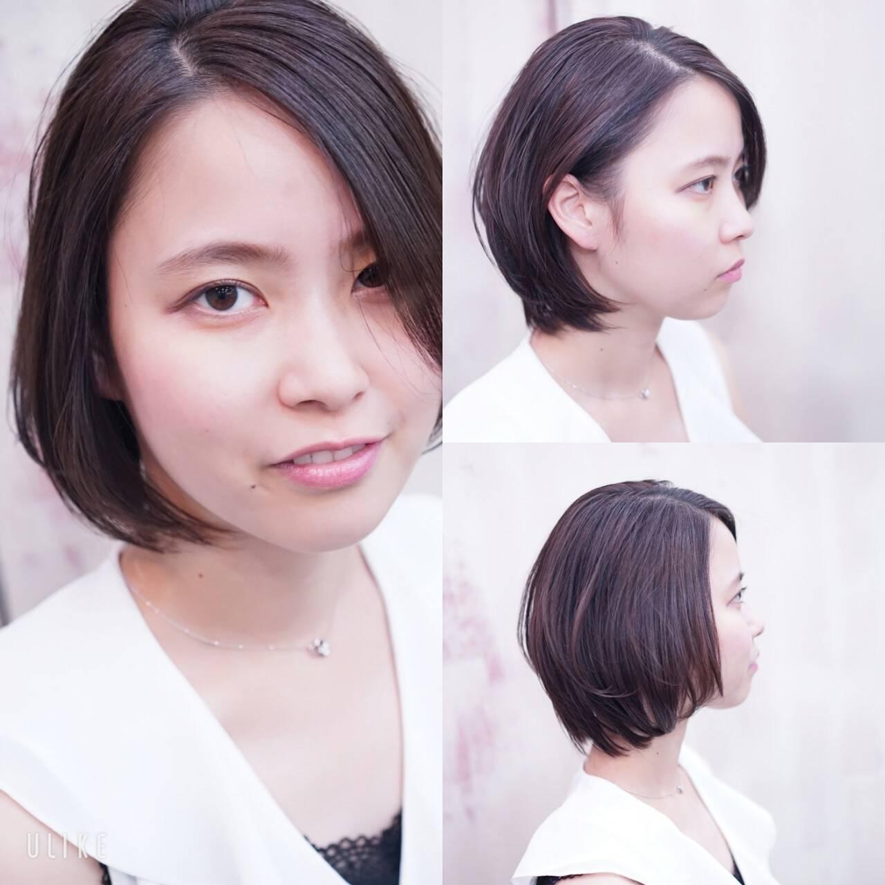 フェミニン 大人かわいい 大人女子 ハンサムショートヘアスタイルや髪型の写真・画像