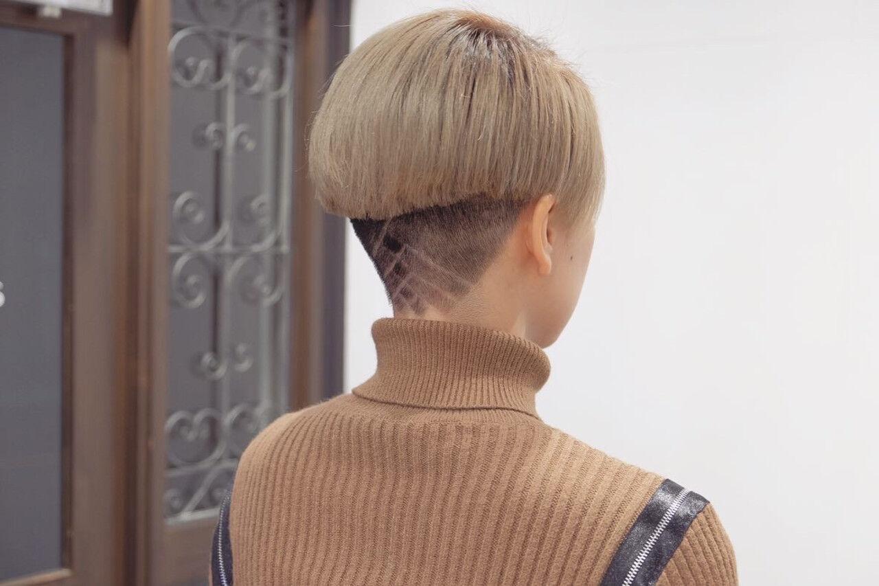 小顔ショート モード ショート 刈り上げショートヘアスタイルや髪型の写真・画像