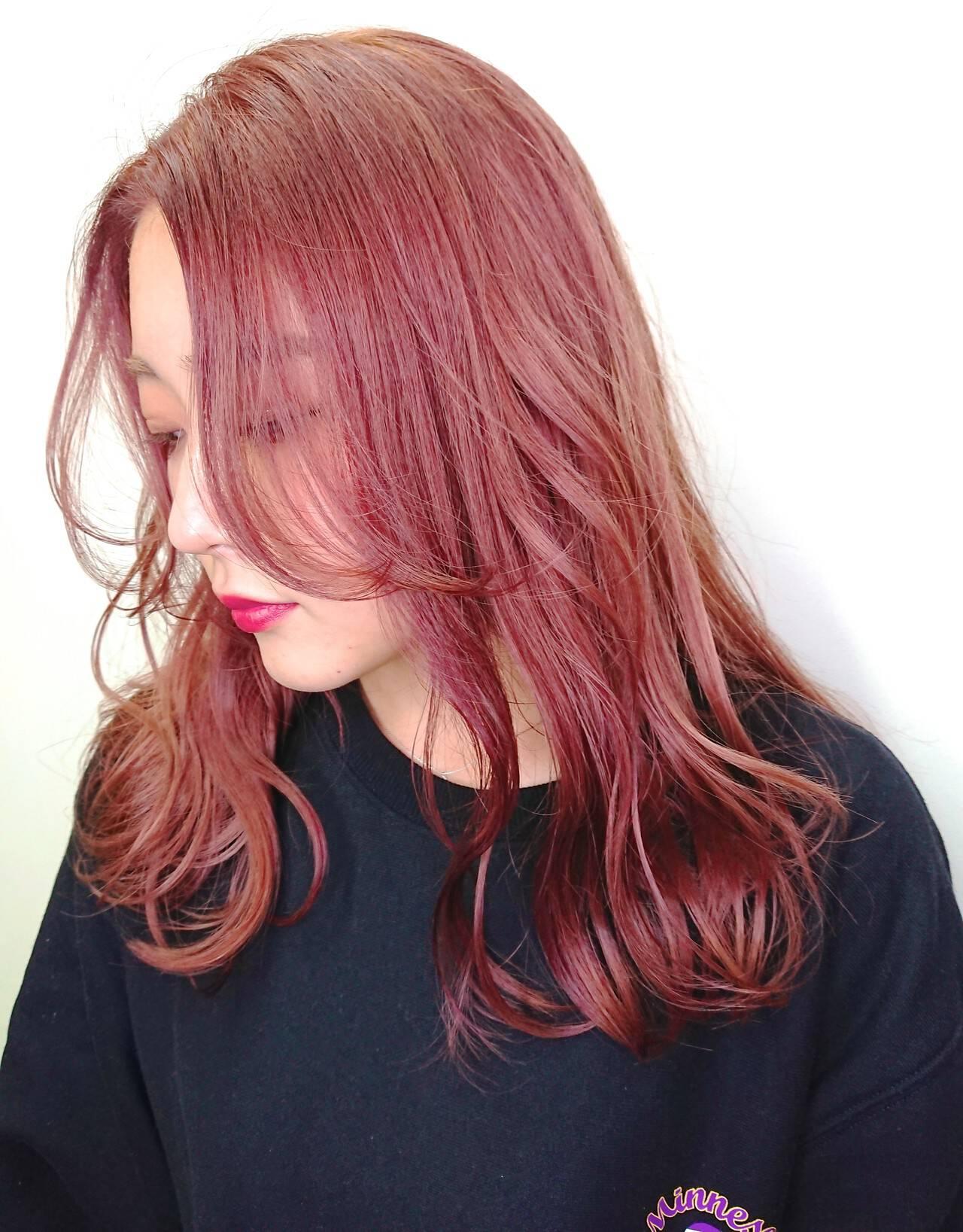 TOKIOトリートメント ピンクカラー ブリーチ ヘアスタイルヘアスタイルや髪型の写真・画像