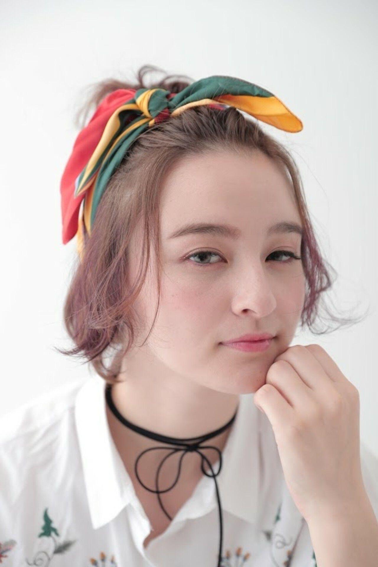 ヘアアレンジ 簡単ヘアアレンジ ボブ 透明感ヘアスタイルや髪型の写真・画像