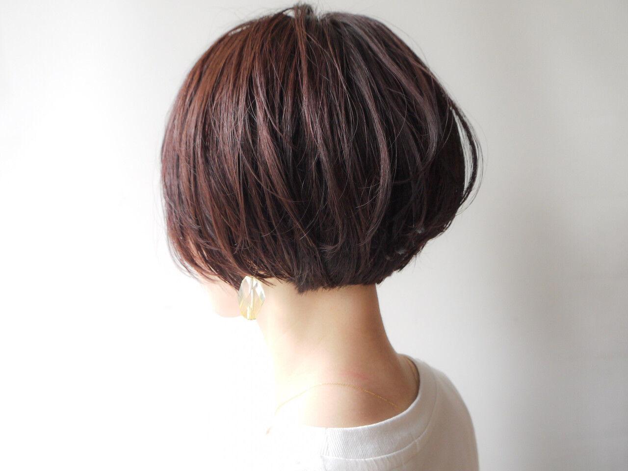 大人女子 オフィス ショートボブ 大人かわいいヘアスタイルや髪型の写真・画像