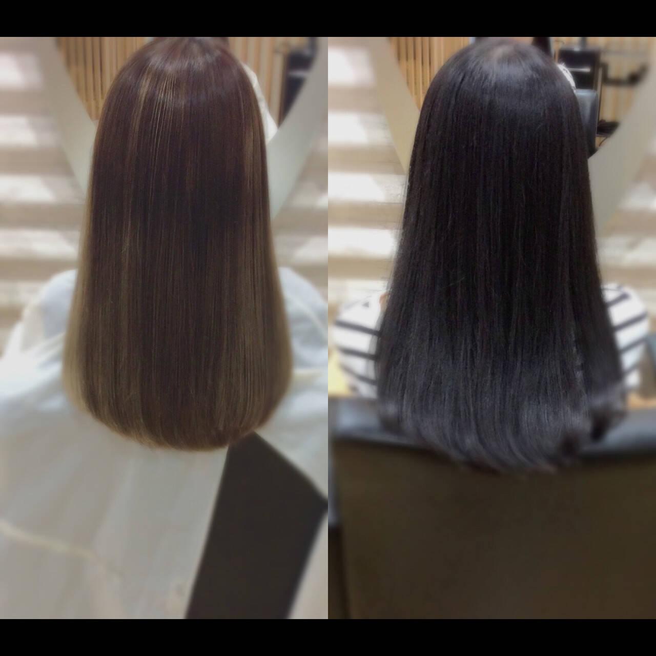 髪質改善カラー ロング 髪質改善 髪質改善トリートメントヘアスタイルや髪型の写真・画像
