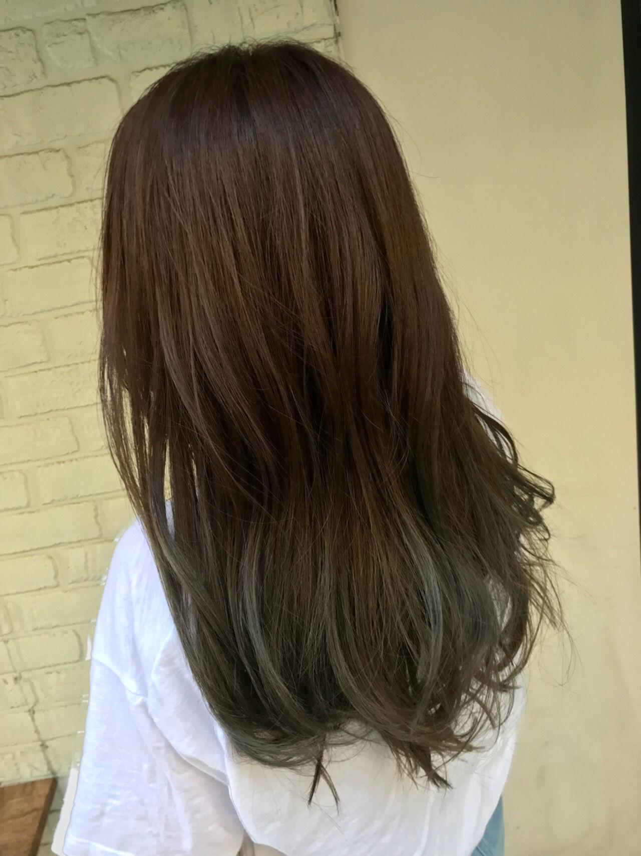外国人風カラー 外国人風 上品 バレイヤージュヘアスタイルや髪型の写真・画像