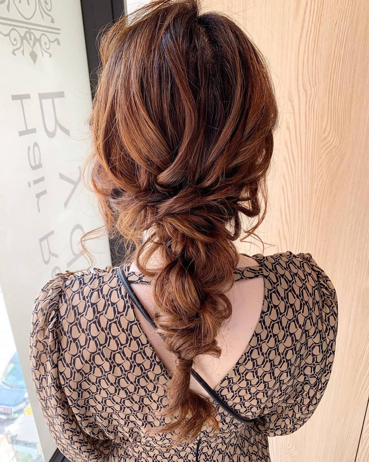 ゆるふわセット ナチュラル ロング 結婚式ヘアアレンジヘアスタイルや髪型の写真・画像