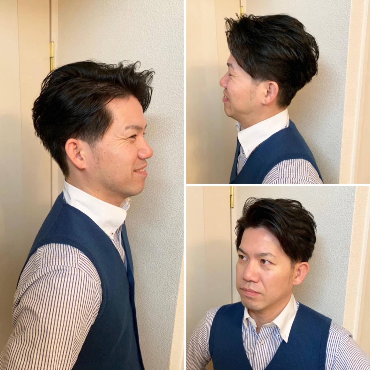 ナチュラル ショート メンズカットヘアスタイルや髪型の写真・画像
