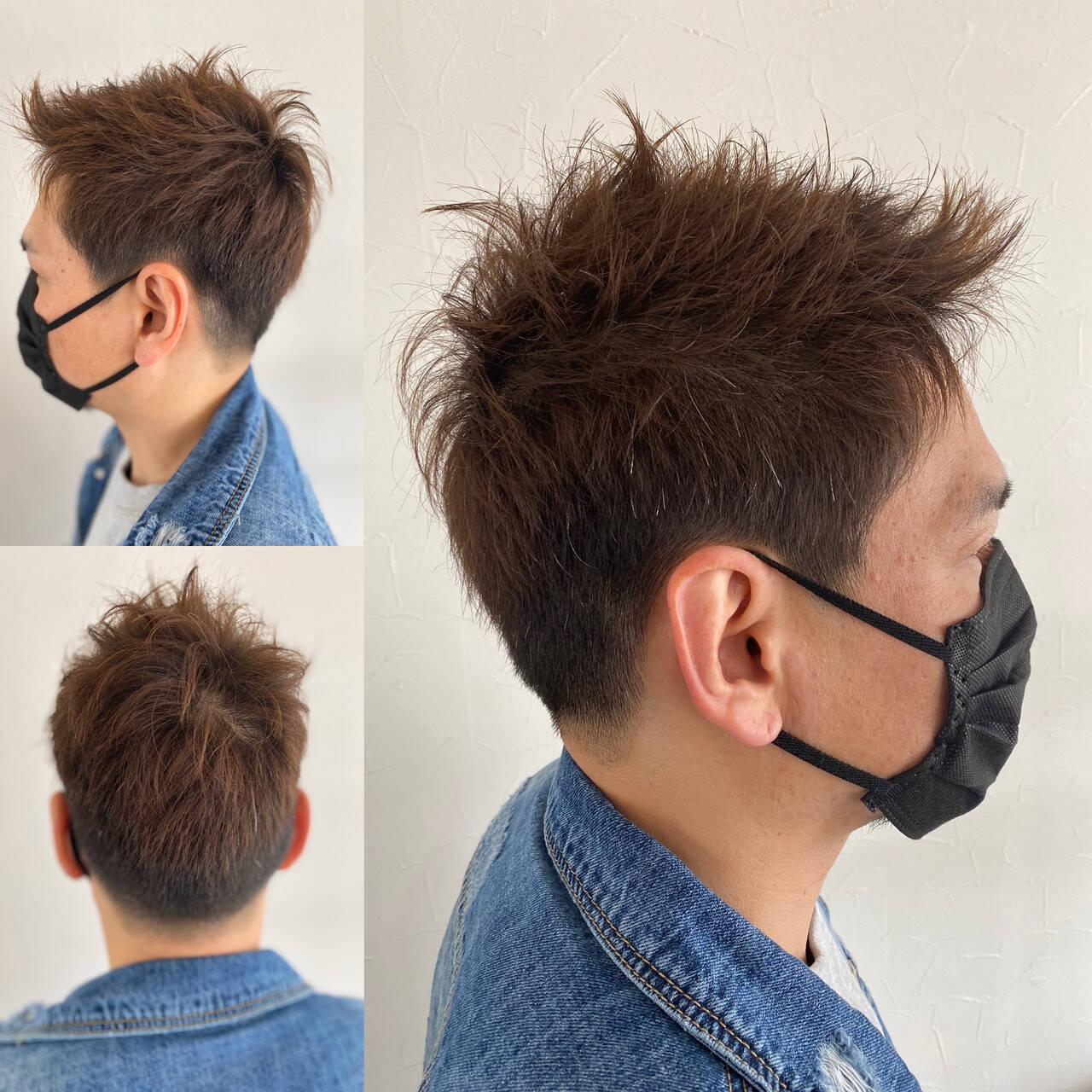 ショート ベリーショート メンズカット ストリートヘアスタイルや髪型の写真・画像