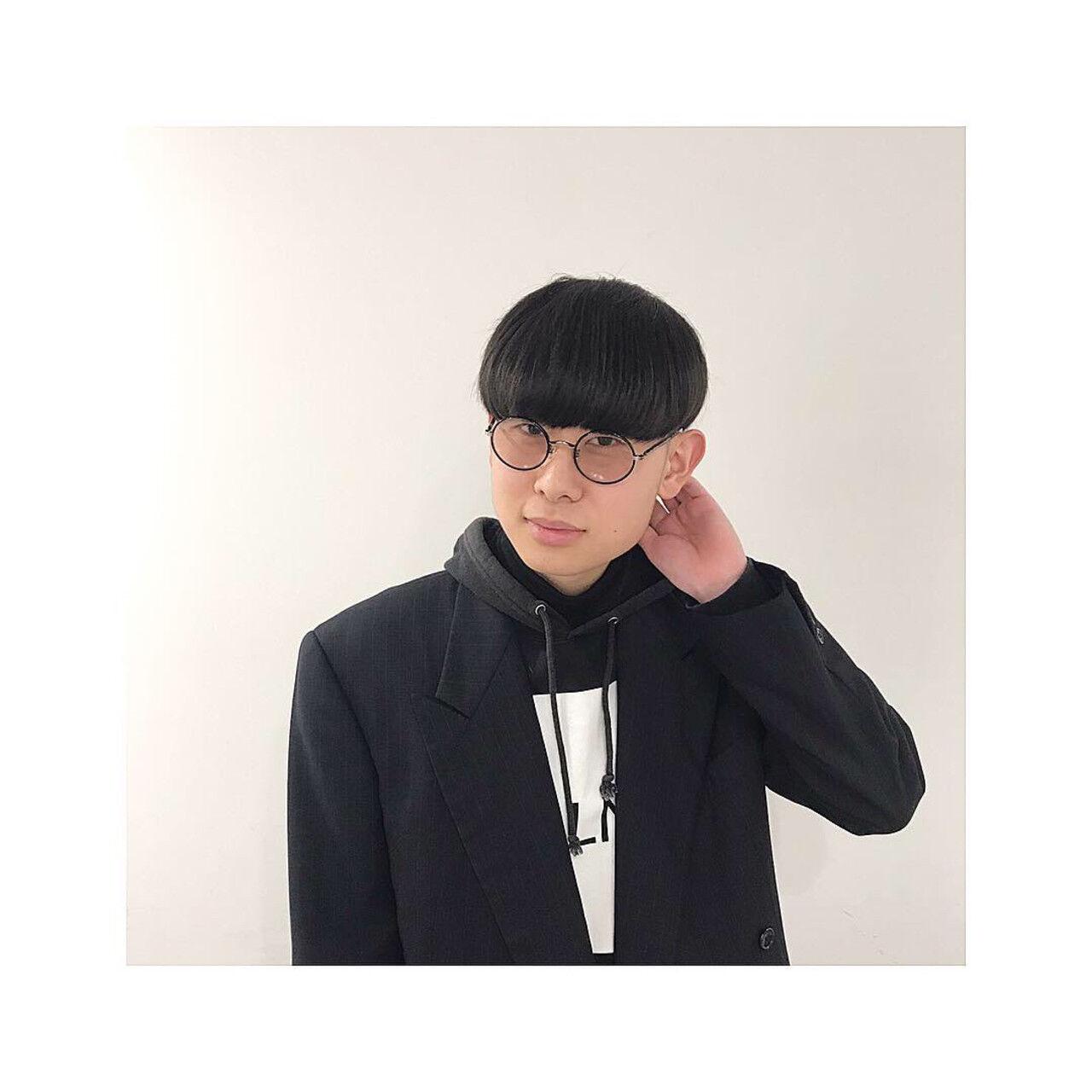メンズ 刈り上げ 韓国ヘア メンズマッシュヘアスタイルや髪型の写真・画像