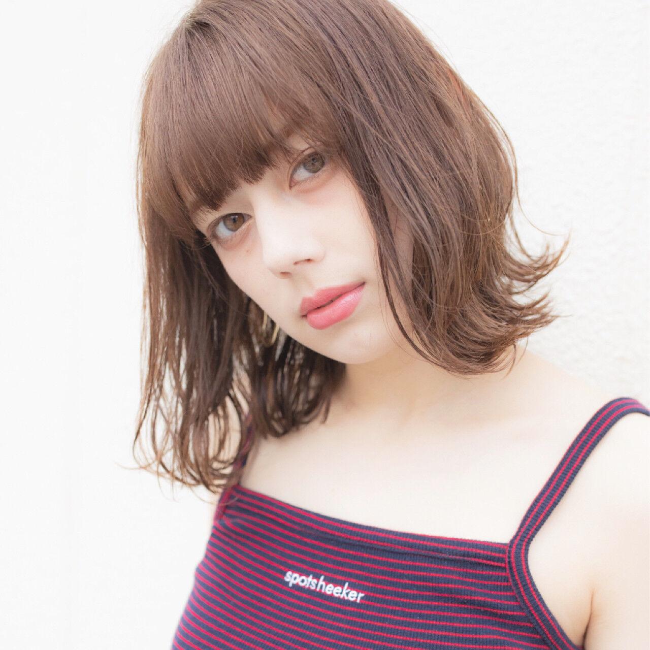 色気 デート ミディアム 夏ヘアスタイルや髪型の写真・画像