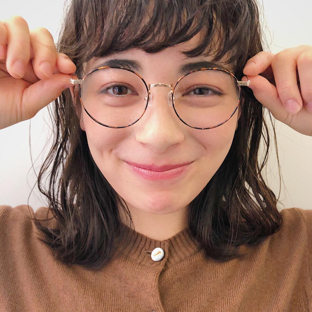黒髪 ミディアム パーマ ガーリーヘアスタイルや髪型の写真・画像