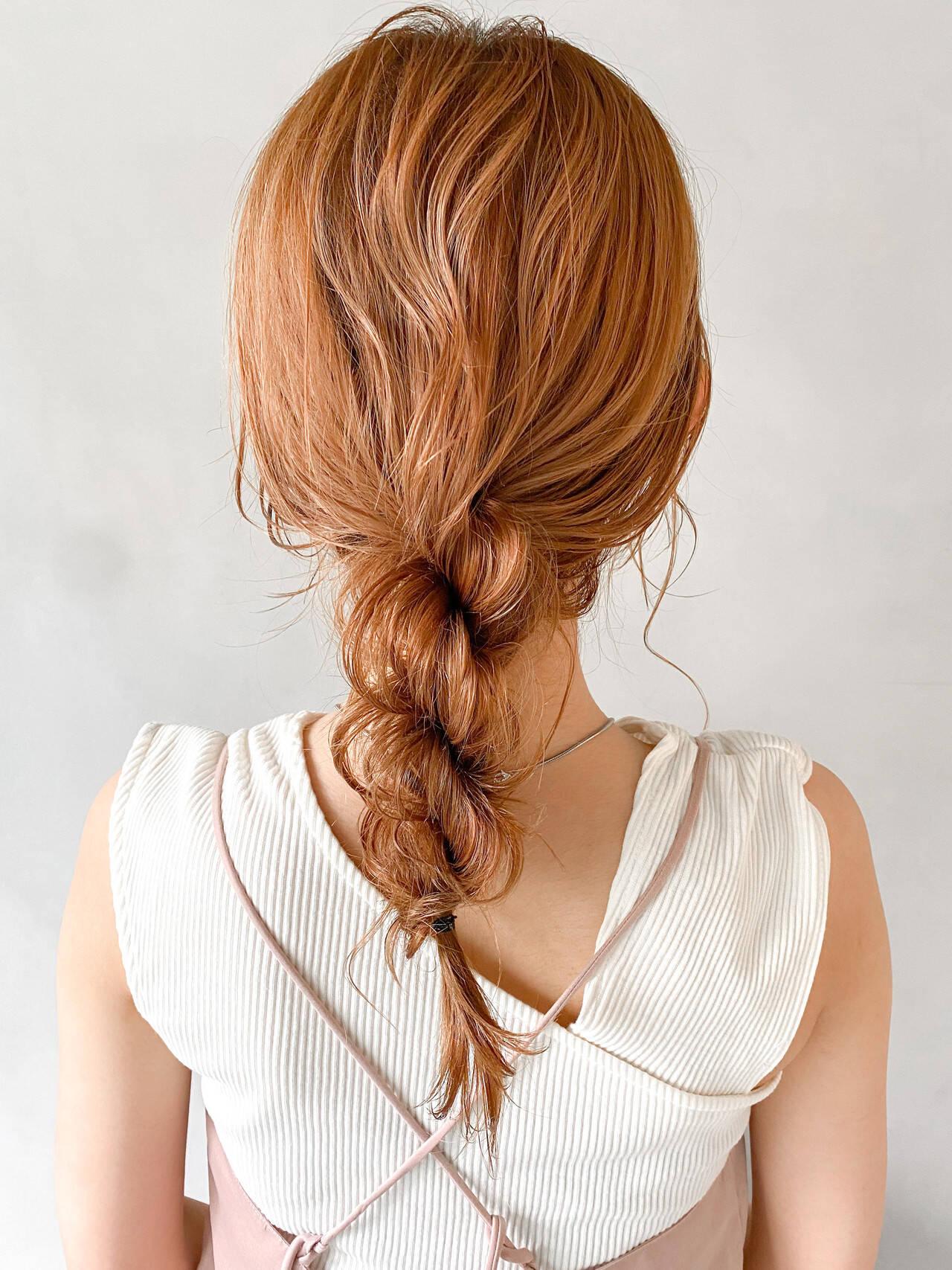 ナチュラル ミディアム 結婚式 ヘアアレンジヘアスタイルや髪型の写真・画像