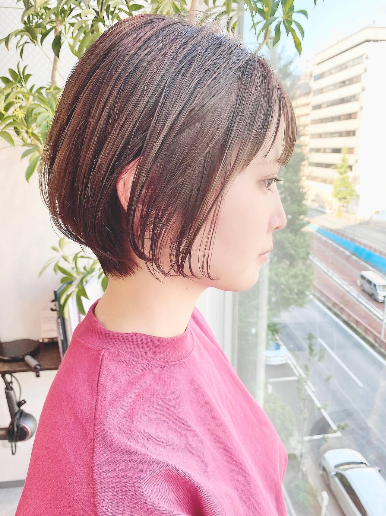 ショート ナチュラル ベリーショート デートヘアスタイルや髪型の写真・画像