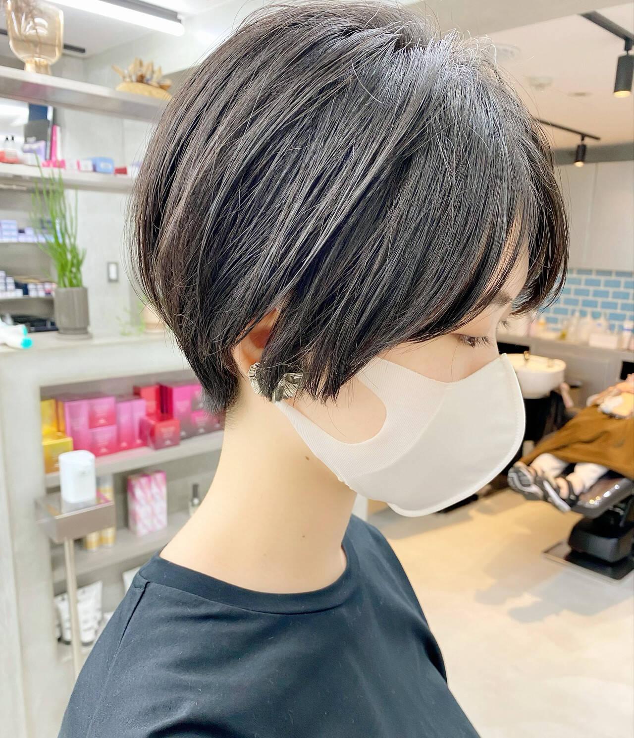 オフィス 大人かわいい ベリーショート デートヘアスタイルや髪型の写真・画像