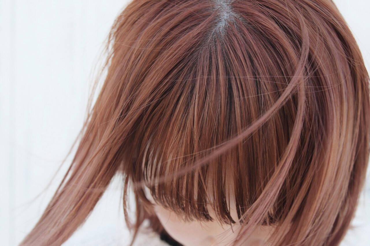 ピンクパープル ラベンダーピンク ナチュラル ピンクベージュヘアスタイルや髪型の写真・画像