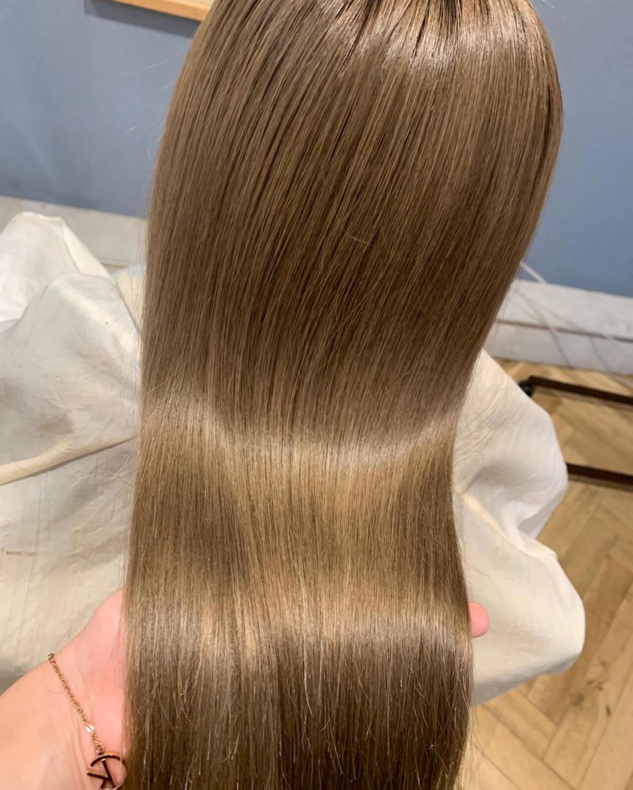 髪質改善トリートメント コンサバ ロング トリートメントヘアスタイルや髪型の写真・画像