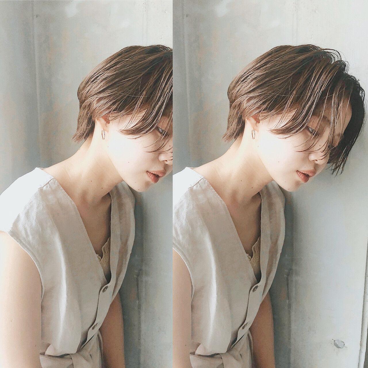 ナチュラル ベリーショート ショートボブ ショートヘアスタイルや髪型の写真・画像