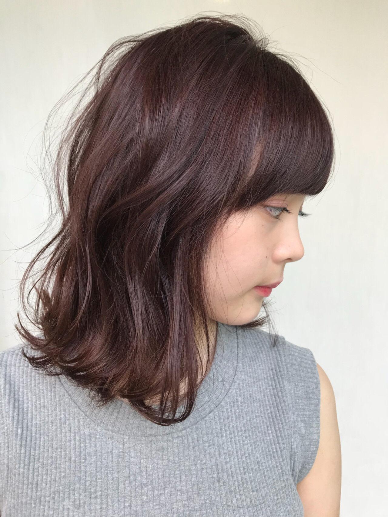 ピンクアッシュ ピンク ベージュ レッドヘアスタイルや髪型の写真・画像