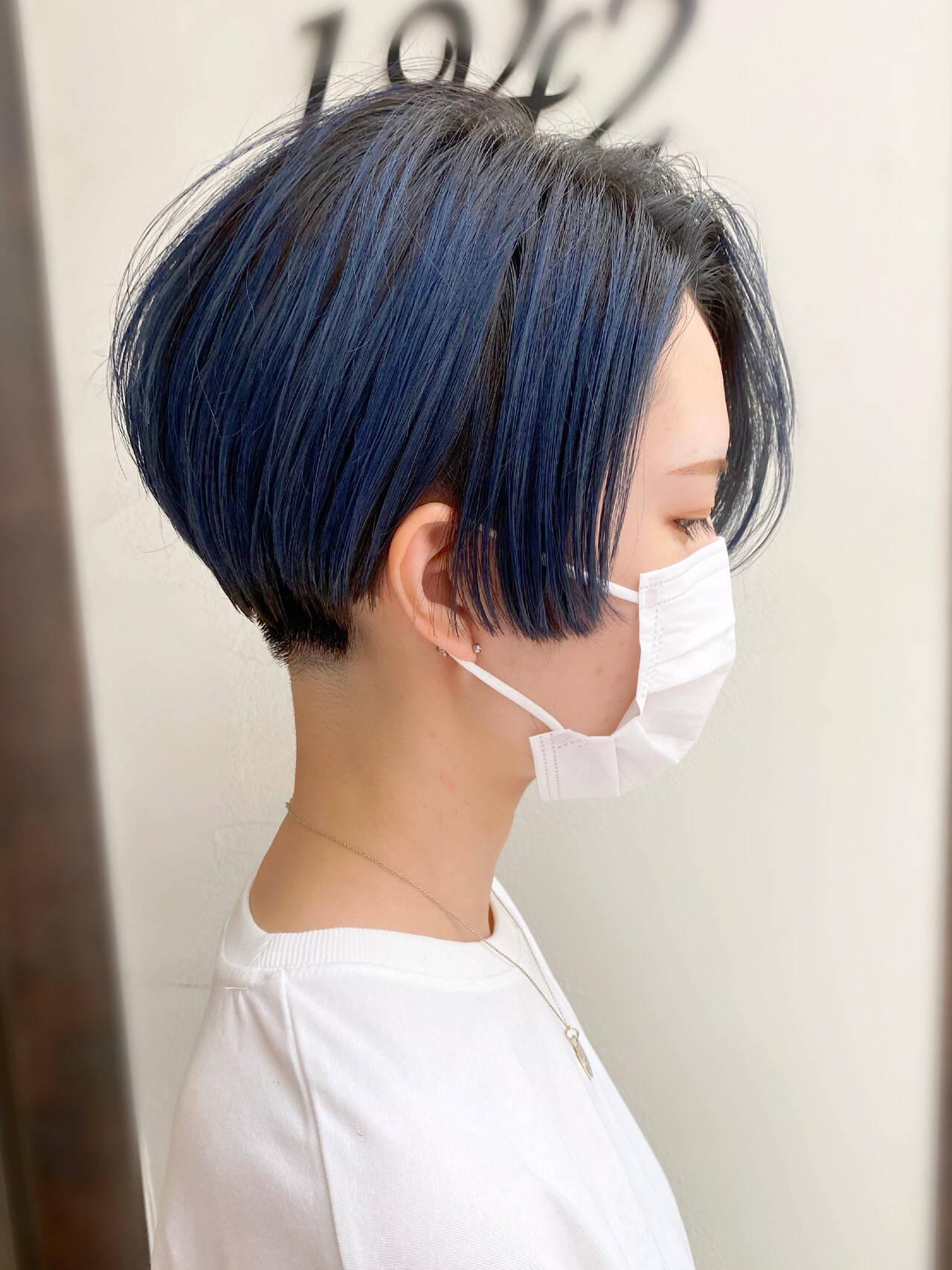 ナチュラル ショート 簡単スタイリング 刈り上げショートヘアスタイルや髪型の写真・画像