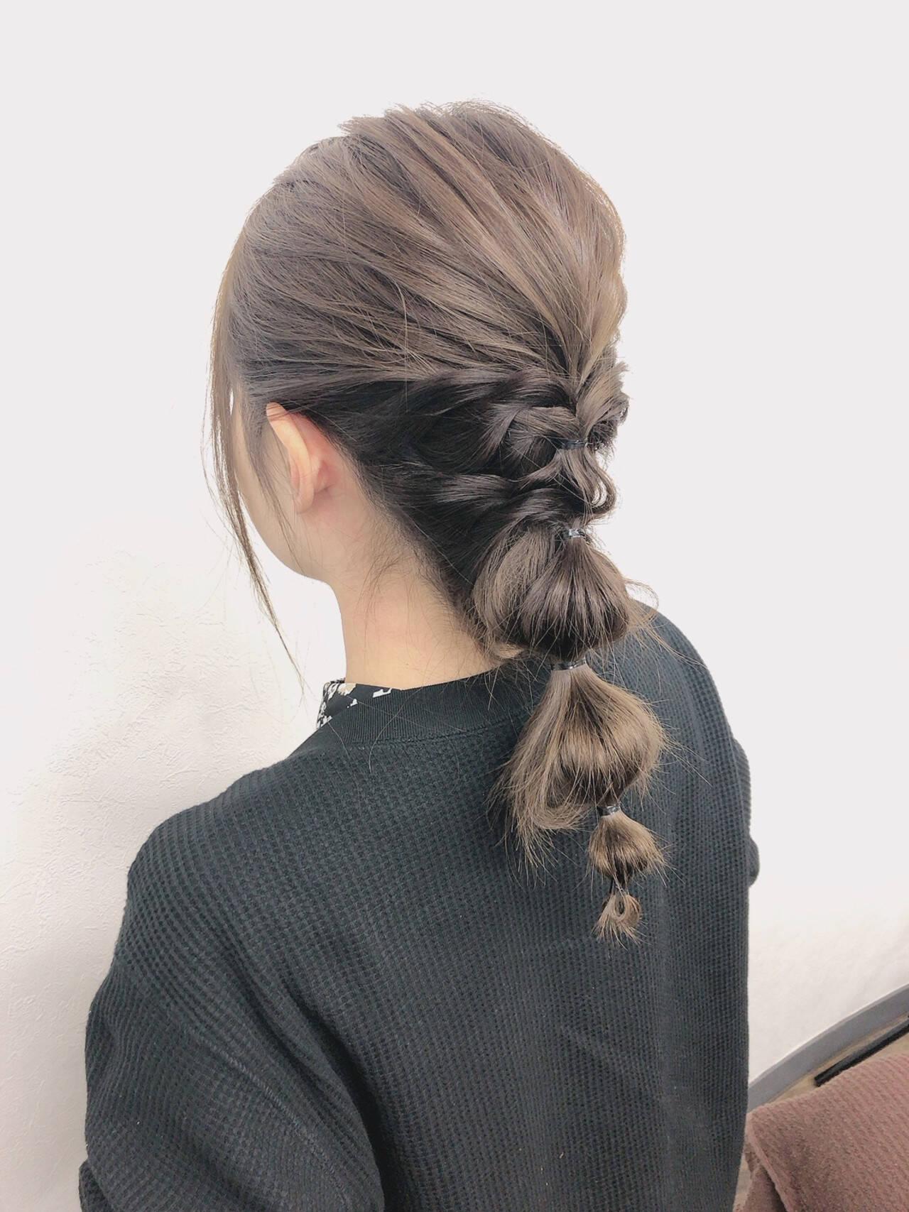 編みおろしヘア 大人可愛い ゆるふわセット ヘアアレンジヘアスタイルや髪型の写真・画像