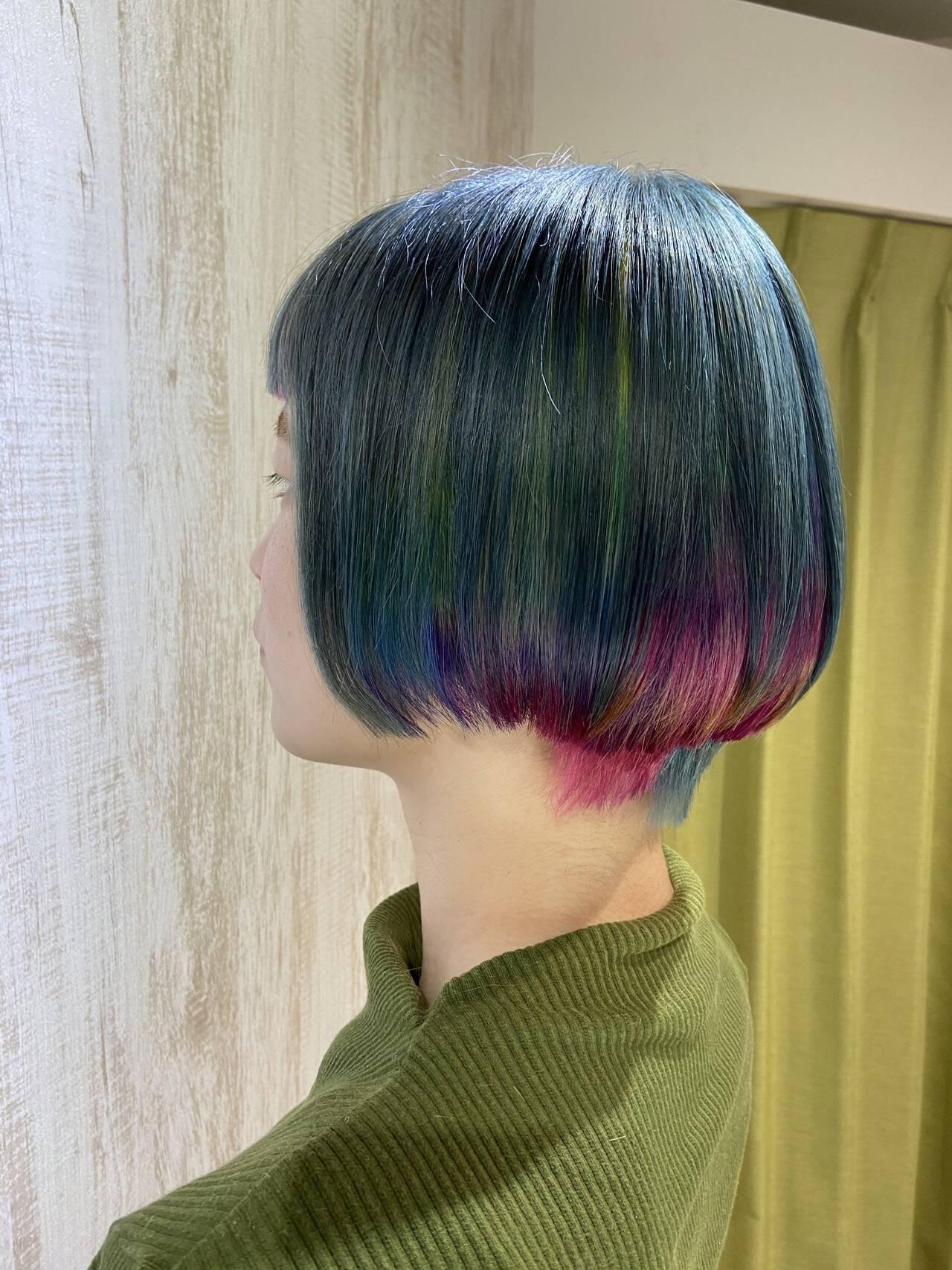 あざと フェミニン 艶髪 ボブヘアスタイルや髪型の写真・画像