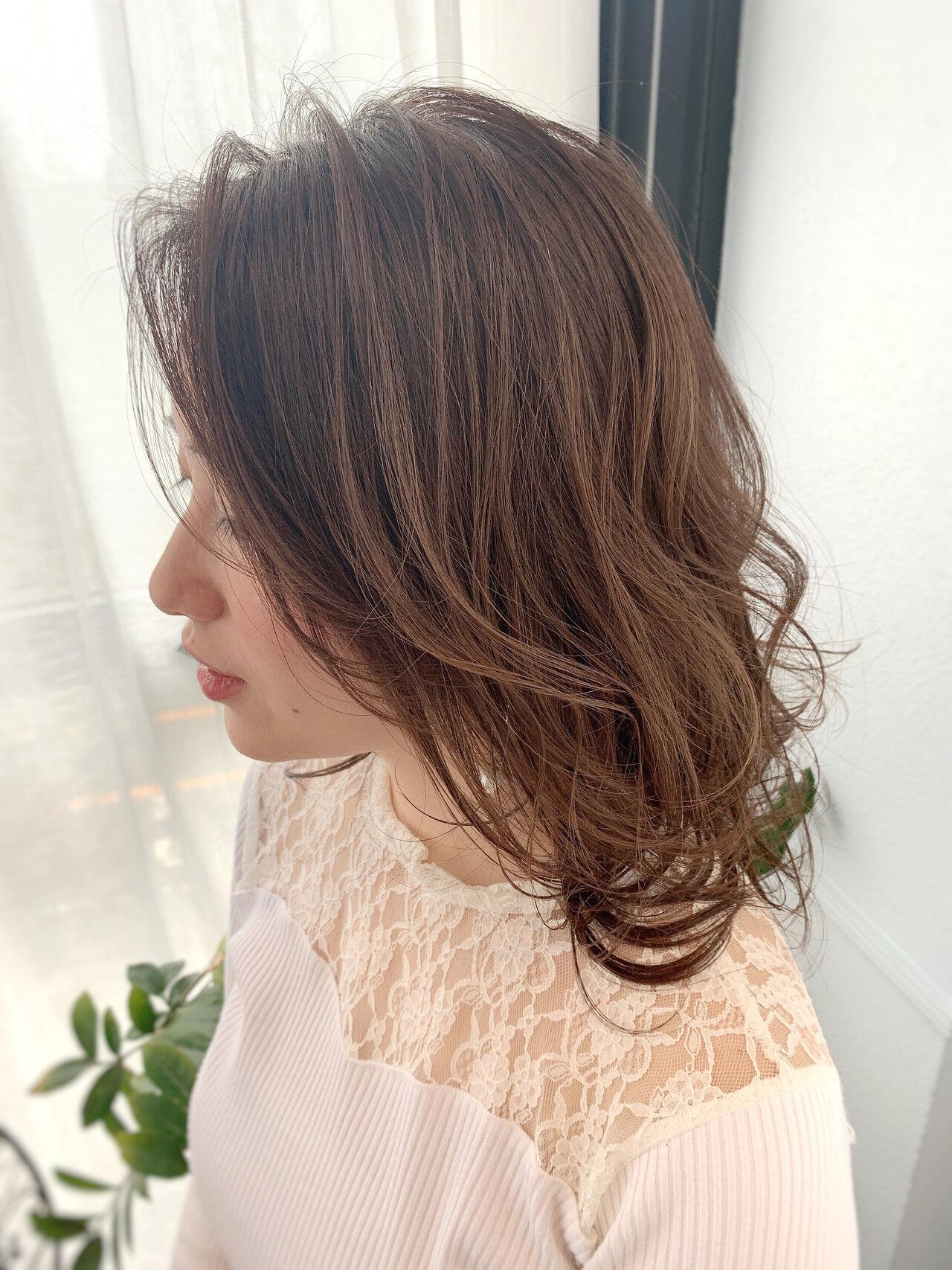 ミディアム エレガント 大人女子 お呼ばれヘアヘアスタイルや髪型の写真・画像