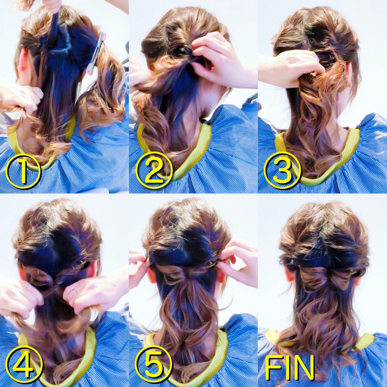 エレガント ロング くるりんぱ セルフアレンジヘアスタイルや髪型の写真・画像