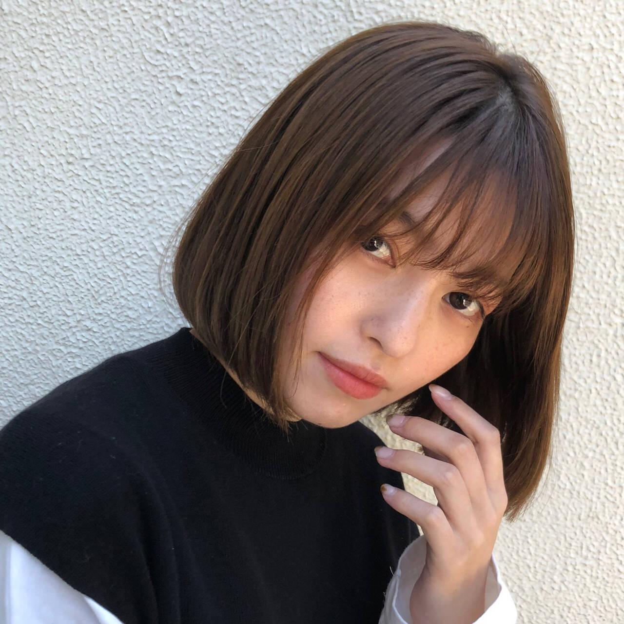 ショートボブ デート ボブ ミニボブヘアスタイルや髪型の写真・画像