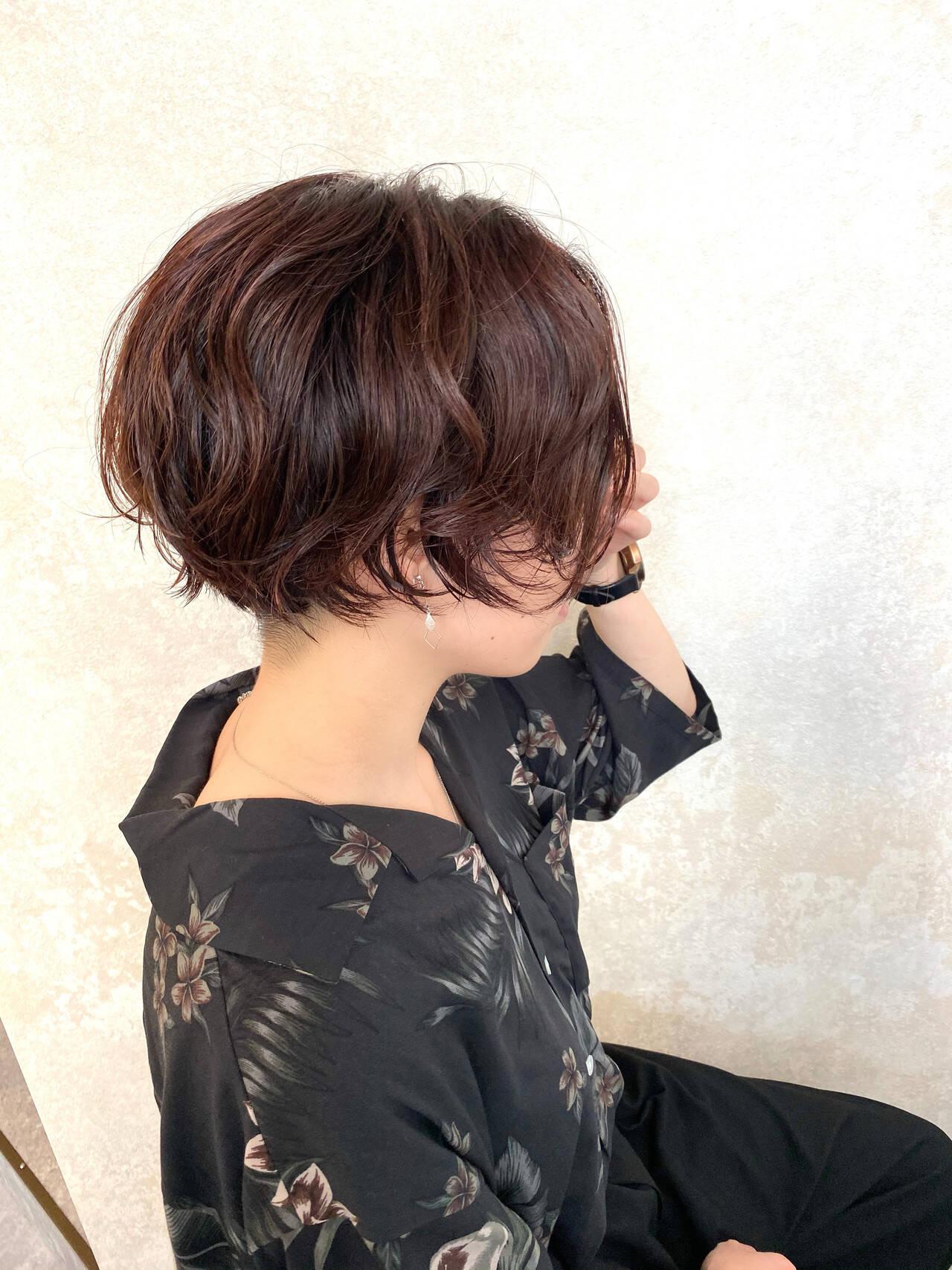 ストリート ショート パーマ ゆるふわパーマヘアスタイルや髪型の写真・画像